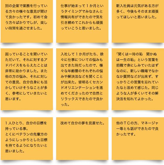 参加者の声 抜粋